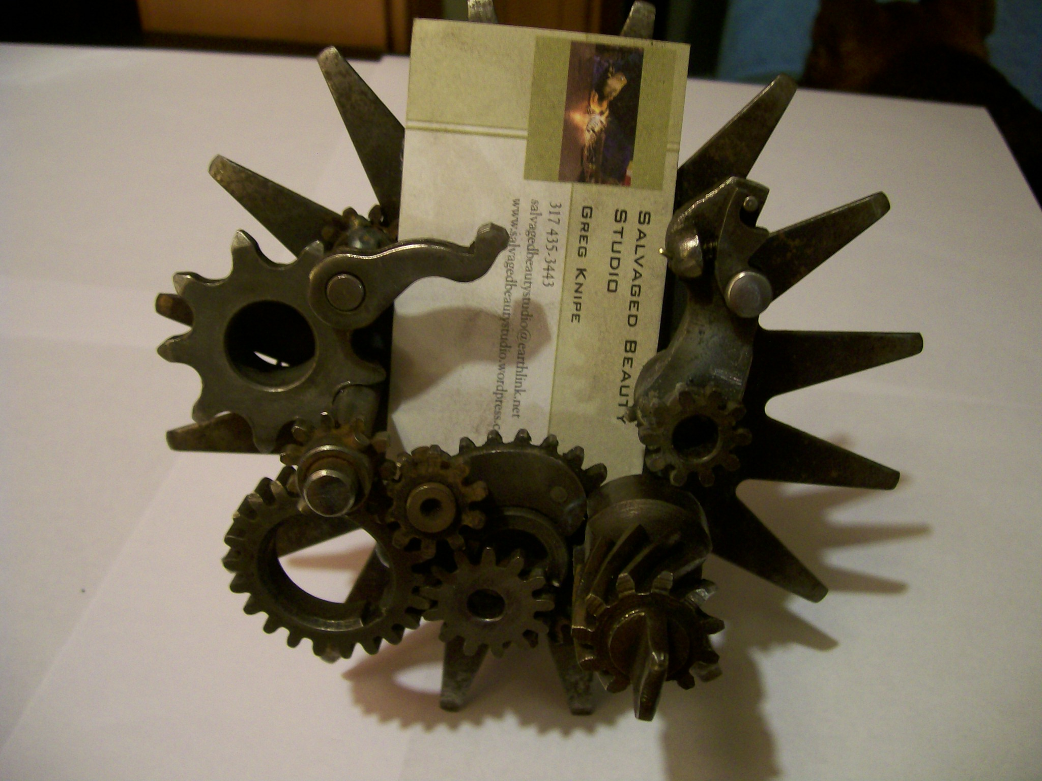 RFP: Steampunk Business Card Stand